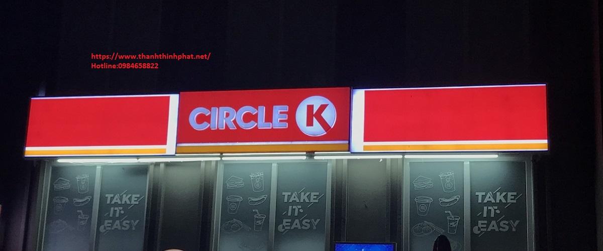 bảng hiệu hộp đèn circle K thanh thịnh phát