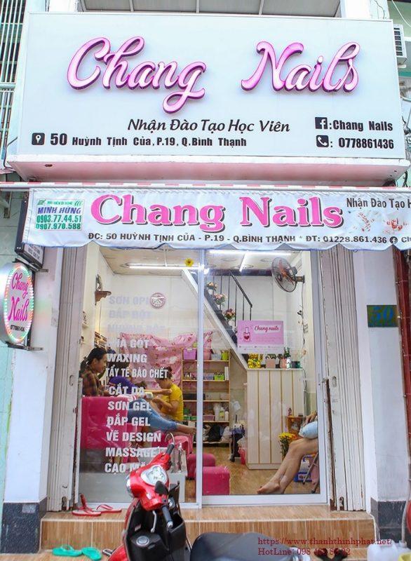 bảng hiệu tiệm nails giá rẽ