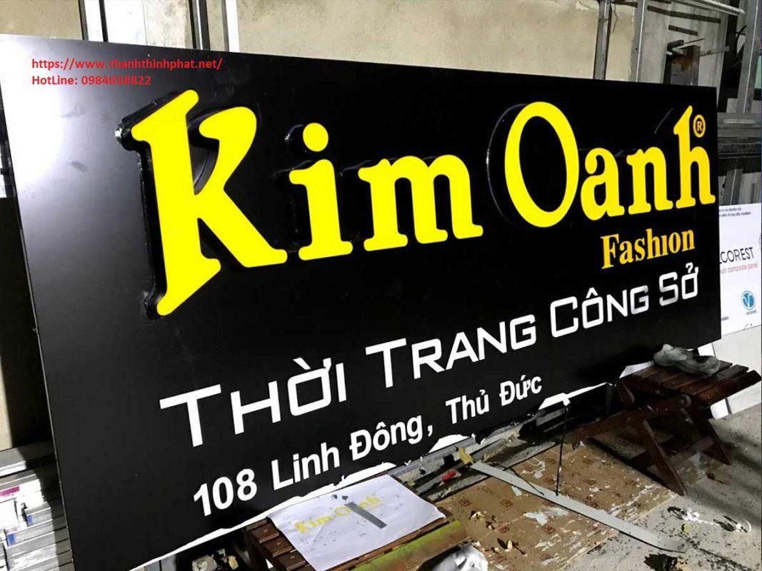 bảng hiệu quảng cáo alu chữ nổi