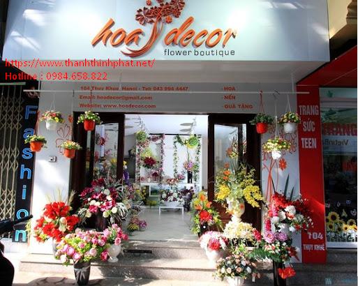 bảng hiệu alu chữ nổi shop hoa