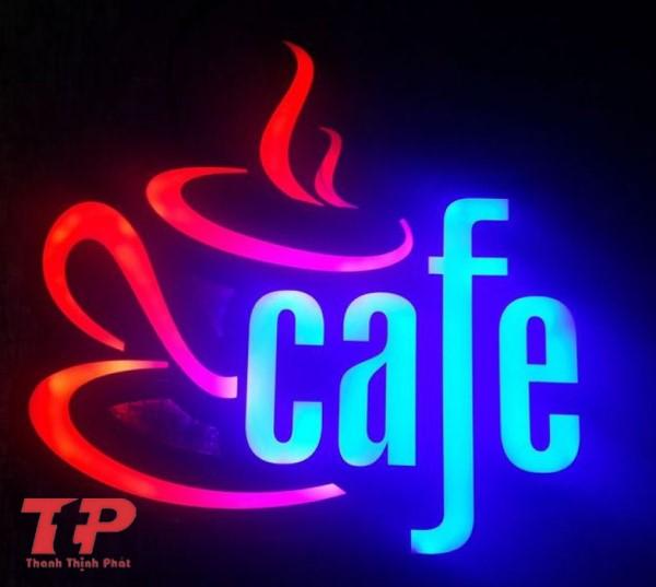 bảng hiệu cafe đèn LED