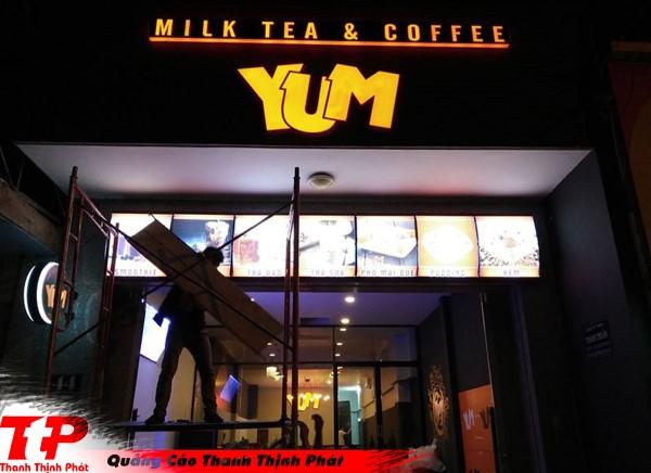 Bảng hiệu trà sữa đẹp