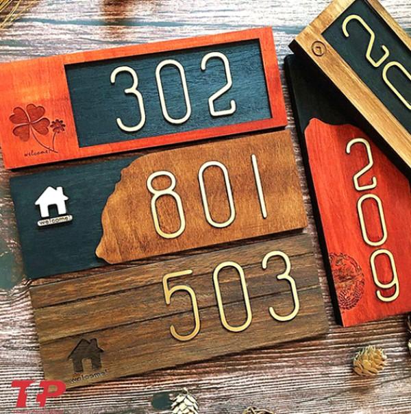 bảng số nhà bằng gỗ