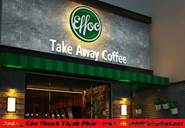phong cách thiết kế quán cafe take a way