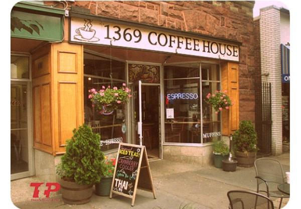 phong cách thiết kế quán cafe vintage