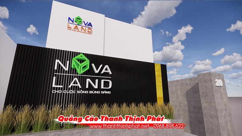 Mẫu bảng hiệu đẹp của novaland